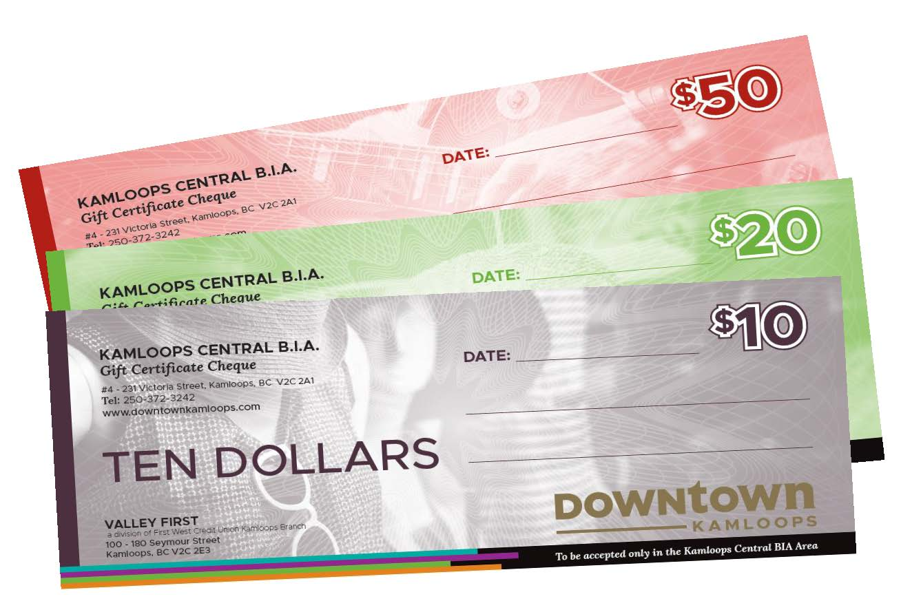 Downtown Gift Certificates Downtown Kamloops